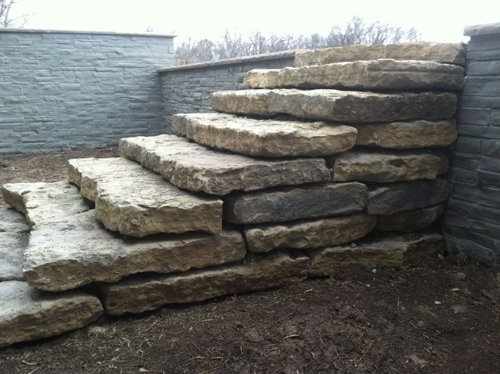 stone stair case