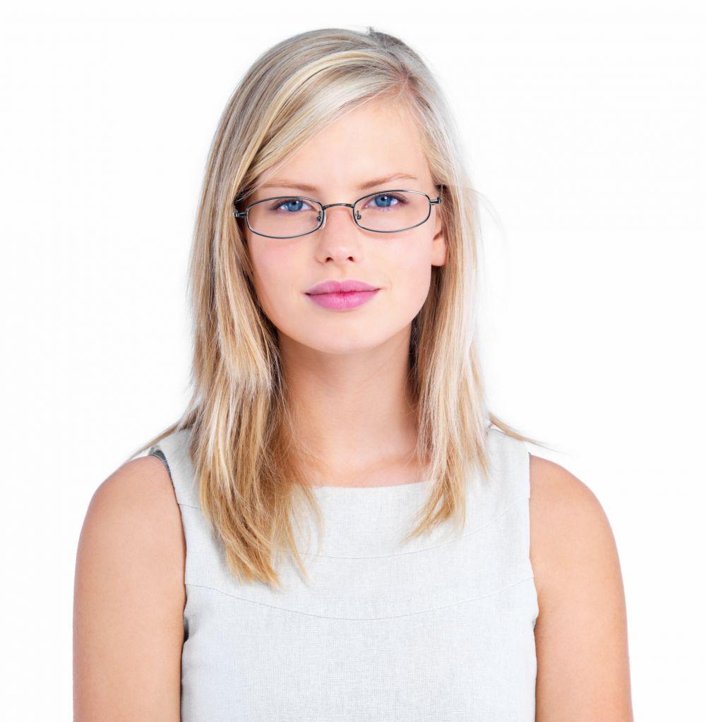 Girl wears fashionable eyewear in Kapaa, HI