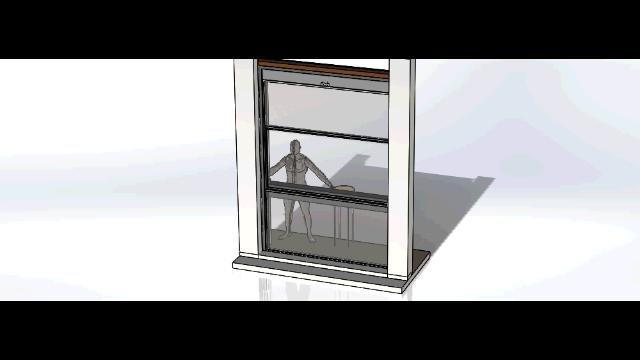 Assieme ambiente sistema di apertura vetrate bar STRAF.avi