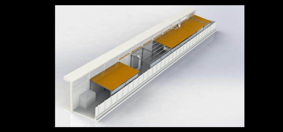 Copertura esterna capannone
