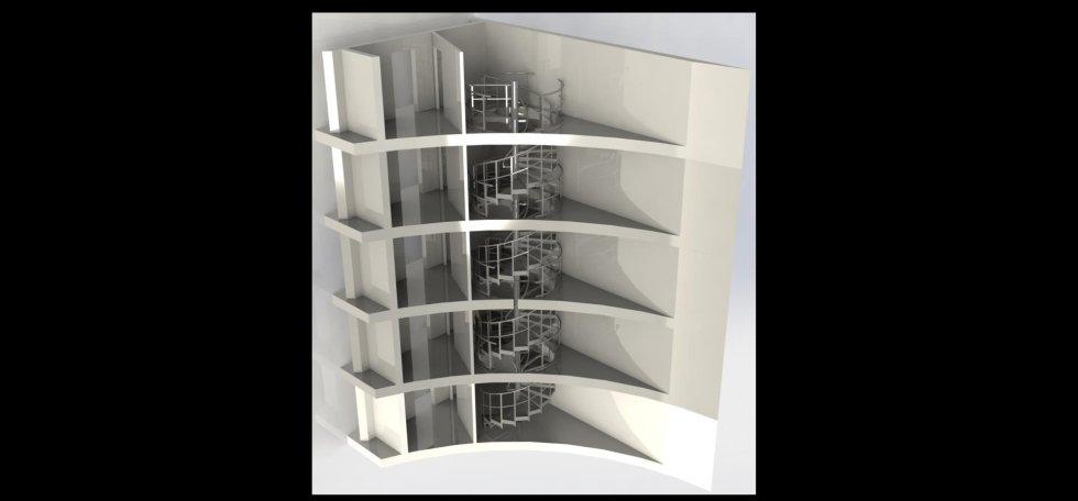scale di uscita a chiocciola