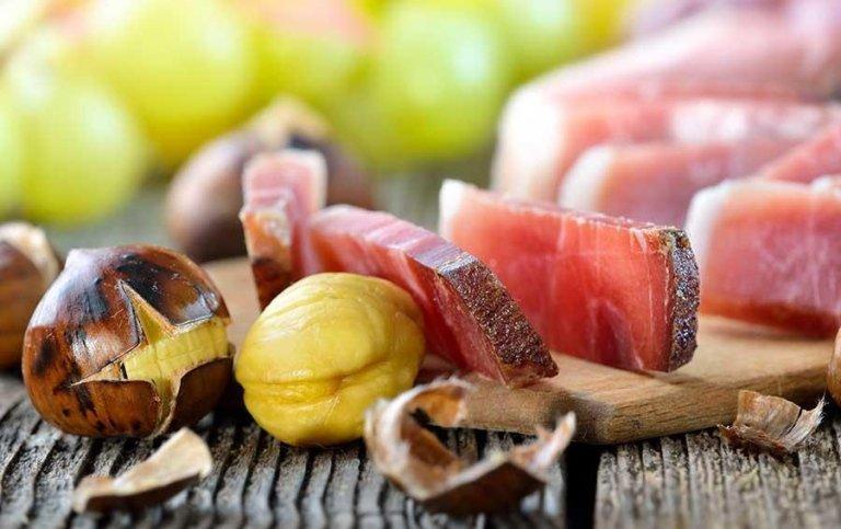 Prosciutto crudo e castagne - Tenuta di Biscina - Gubbio