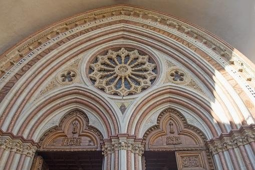 The entrance arch of Basilica of St. Francis - Assisi