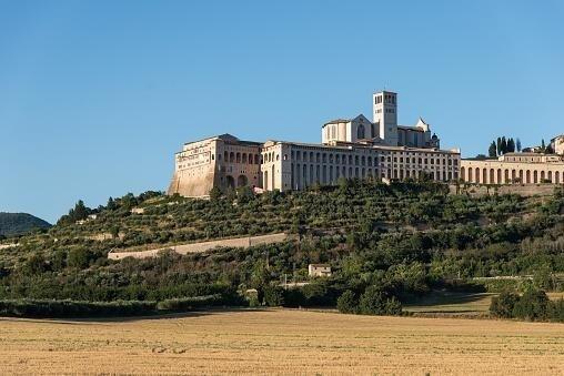 Vista panoramica città di Assisi