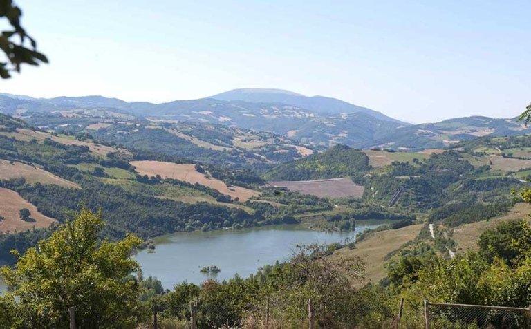 Vista panoramica - Tenuta di Biscina - Gubbio