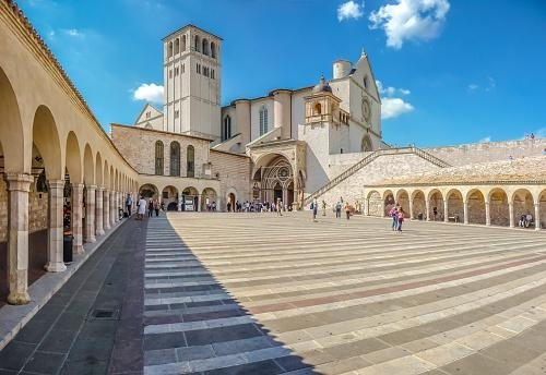Courtyard of Basilica of St. Francis - Assisi