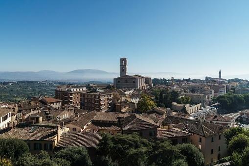 Vista panoramica su Perugia