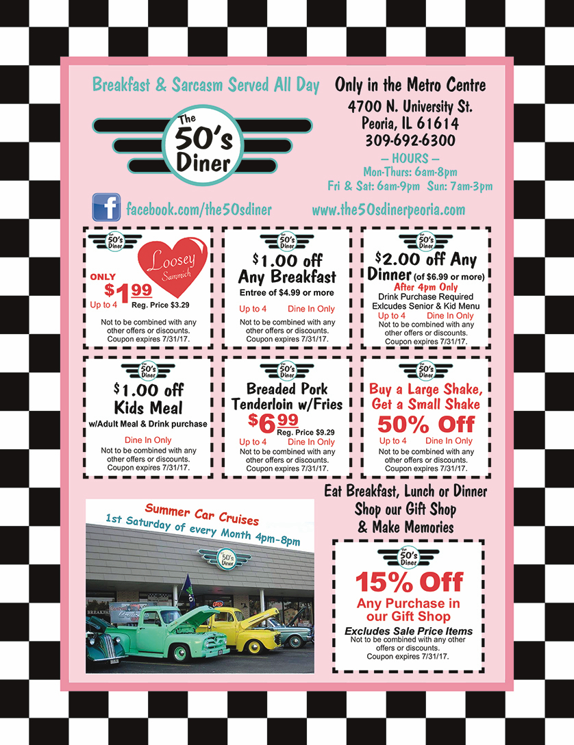 The 50's Diner coupons