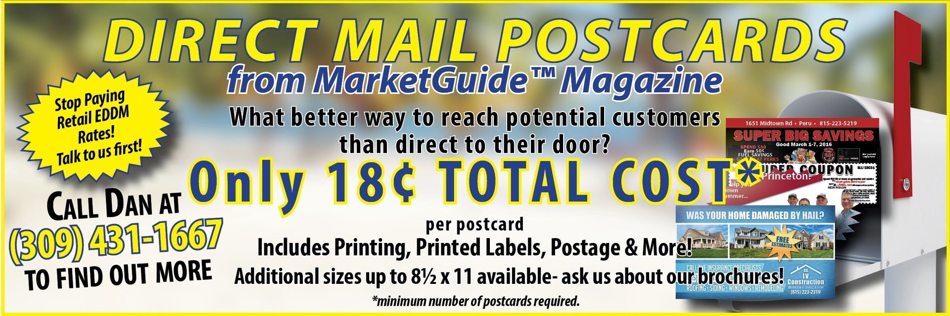 Direct Mail Advertising Postcards MarketGuide Magazine