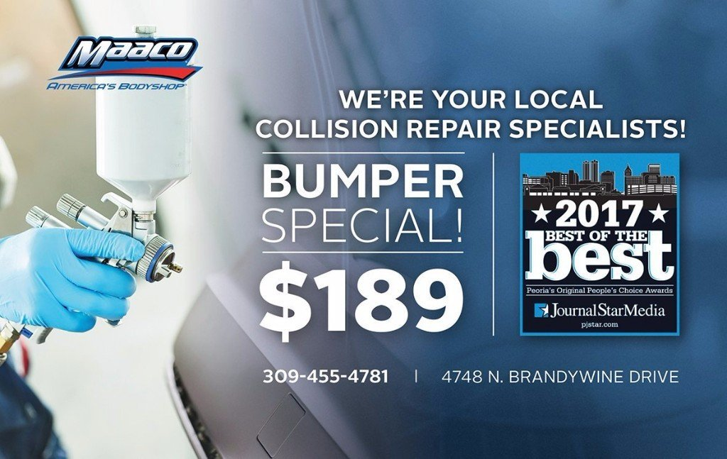 Maaco of Peoria bodyshop coupon bumper special $189