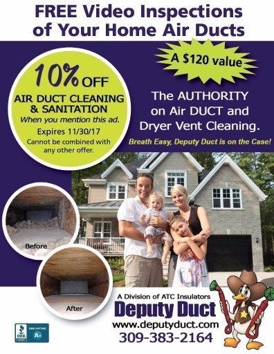 Deputy Duct air duct cleaning for home coupon and dryer vent cleaning