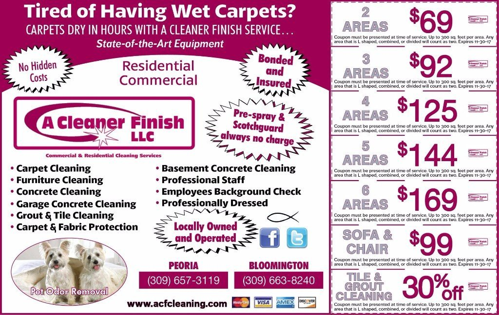 A Cleaner Finish carpet floor cleaners coupons
