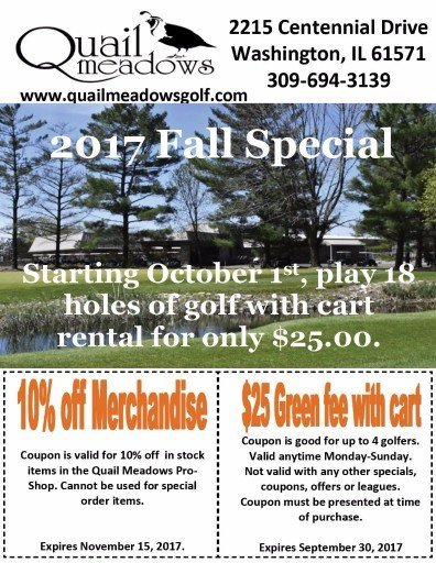 Quail Meadows Golf Fon du Lac Golf coupons