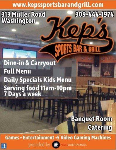 Kep's Sports Bar and Grill video gaming Washington, IL