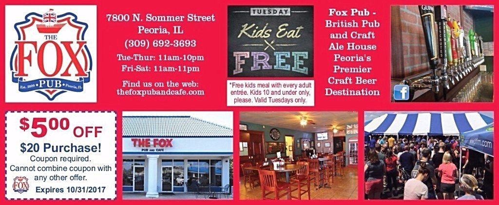 The Fox Pub and Cafe restaurant coupon beer fest