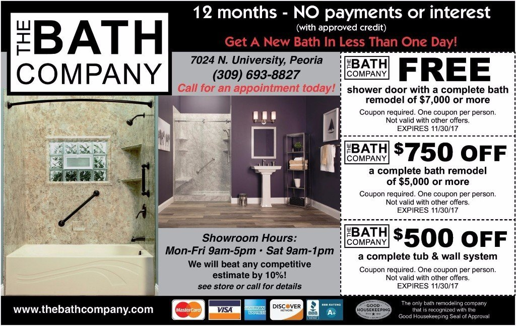 The Bath Company bath remodel tub installation discount coupons