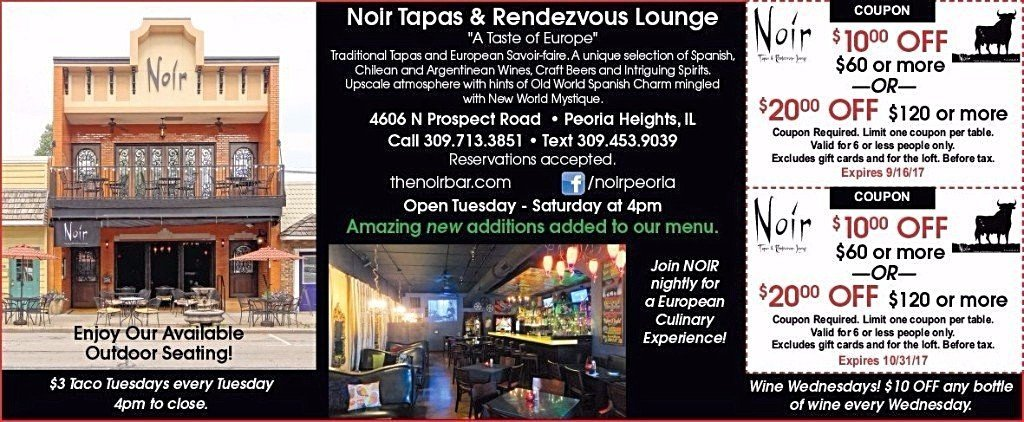Noir Tapas and Rendezvous Lounge restaurant coupons