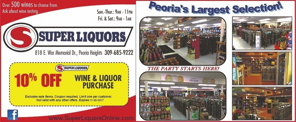 Super Liquors wine liquor beer coupon Peoria Heights