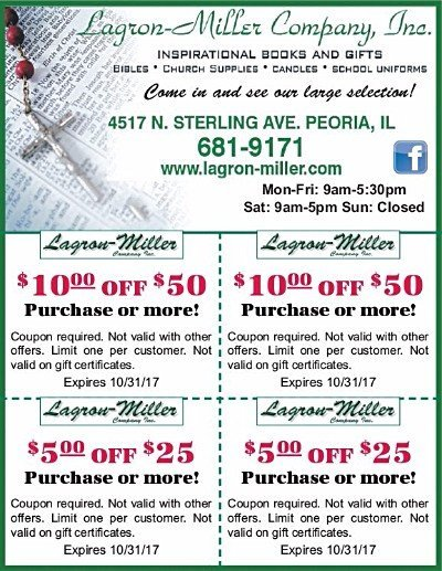 Lagron-Miller Company christian books gifts church supplies coupons
