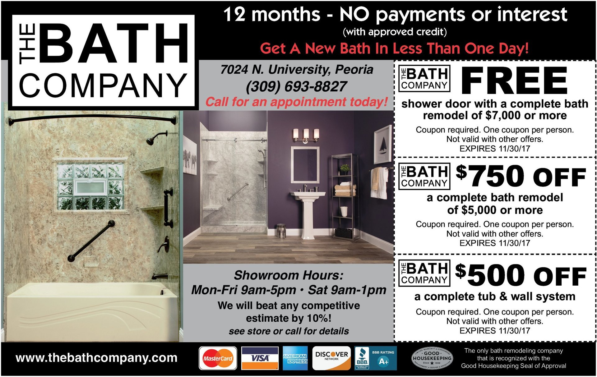 The Bath Company get a new bath in less than one day coupons Peoria, IL