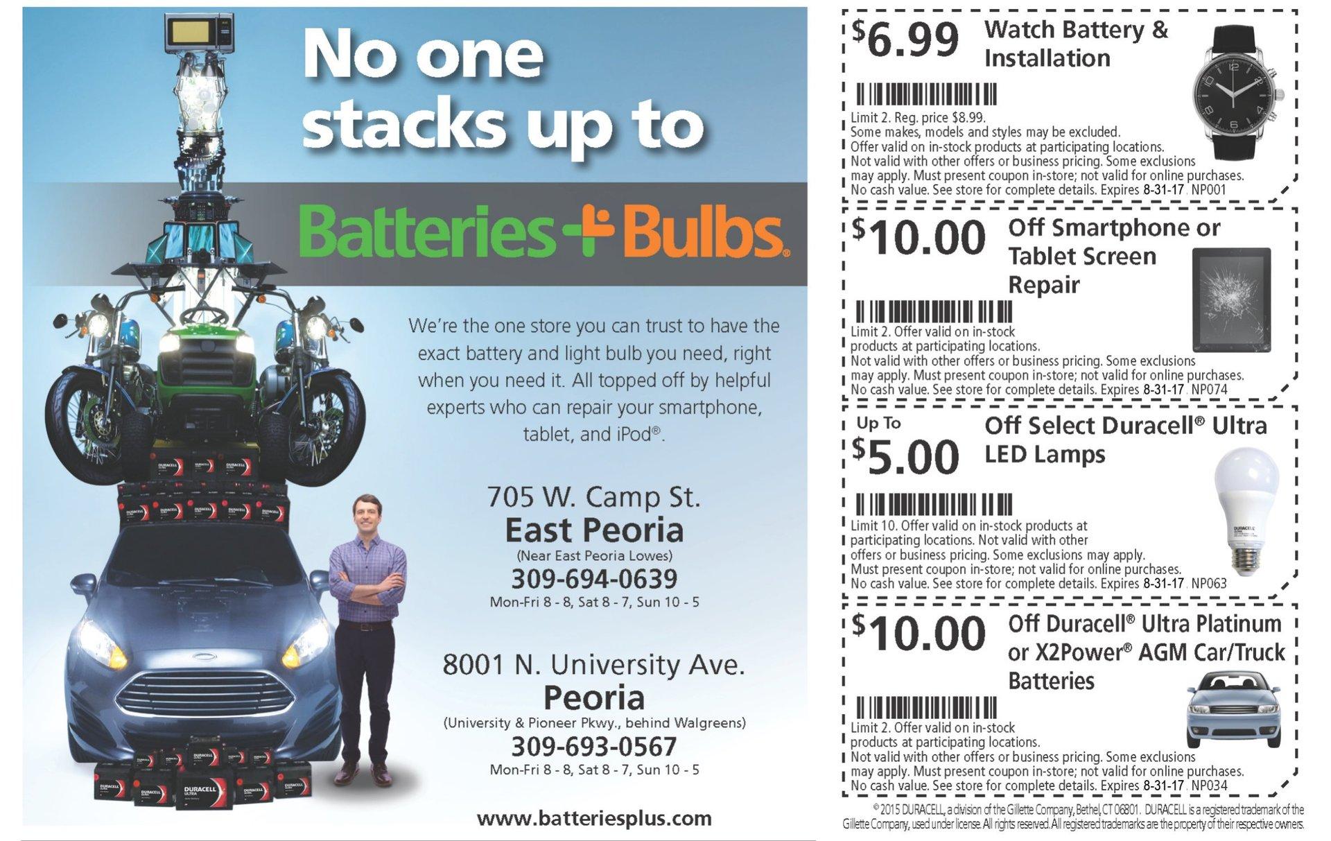 Batteries Plus Bulbs coupons