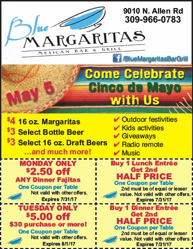 Blue Margaritas Mexican Bar and Grill coupons