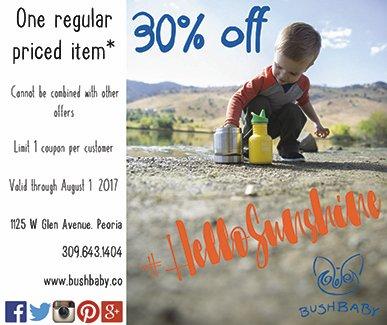 Bush Baby children coupon