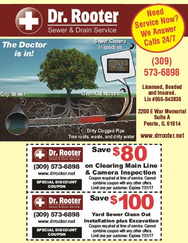 Dr Rooter Sewer and Drain Service coupons