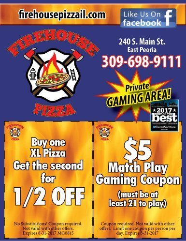 Firehouse Pizza East Peoria coupons