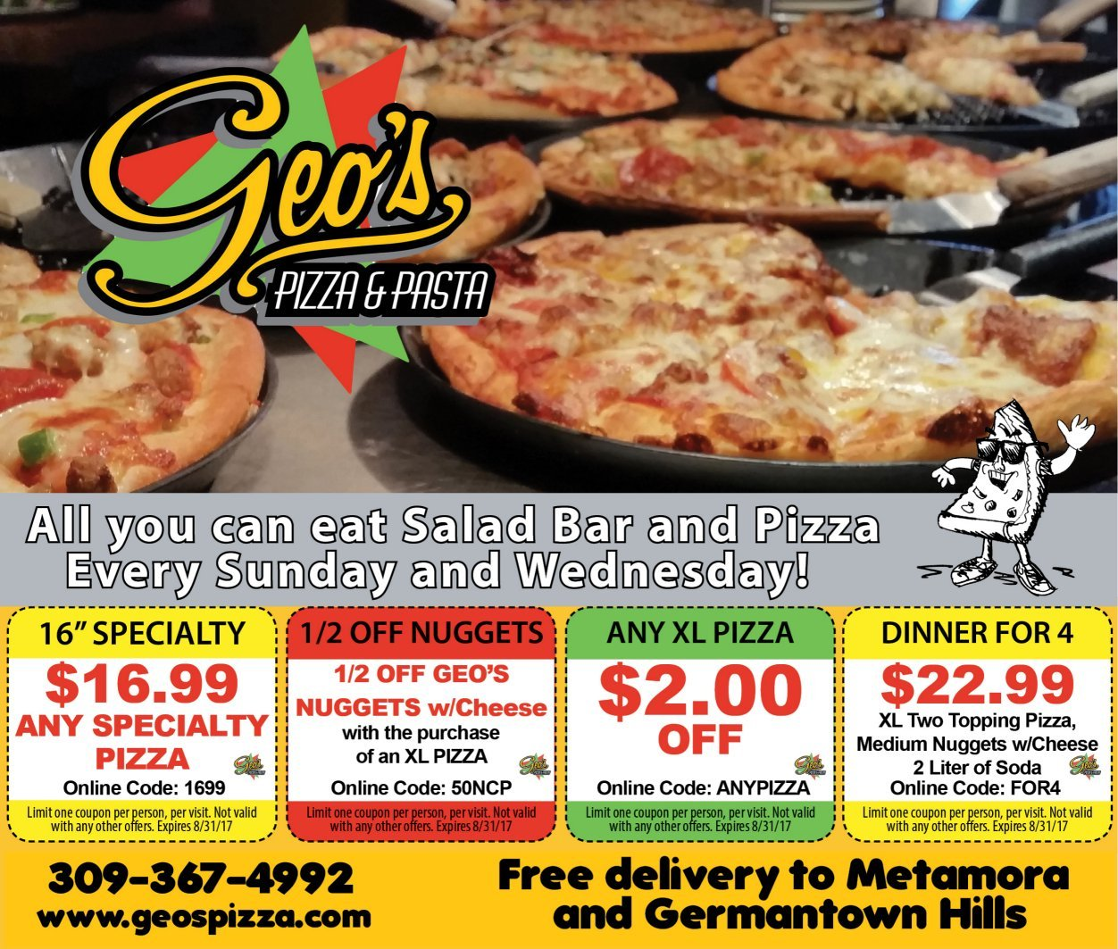 Geo's Pizza and Pasta coupons