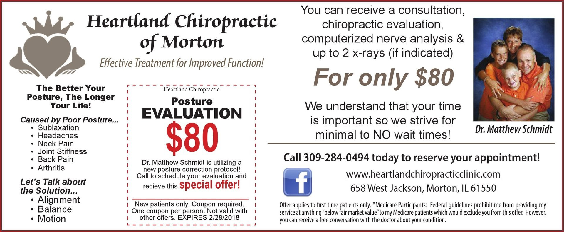 Heartland Chiropractic of Morton posture and consultation coupons Morton, IL