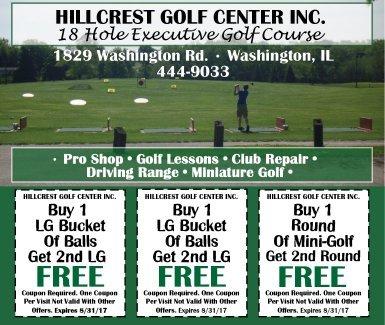 Hillcrest Golf Center Inc coupons