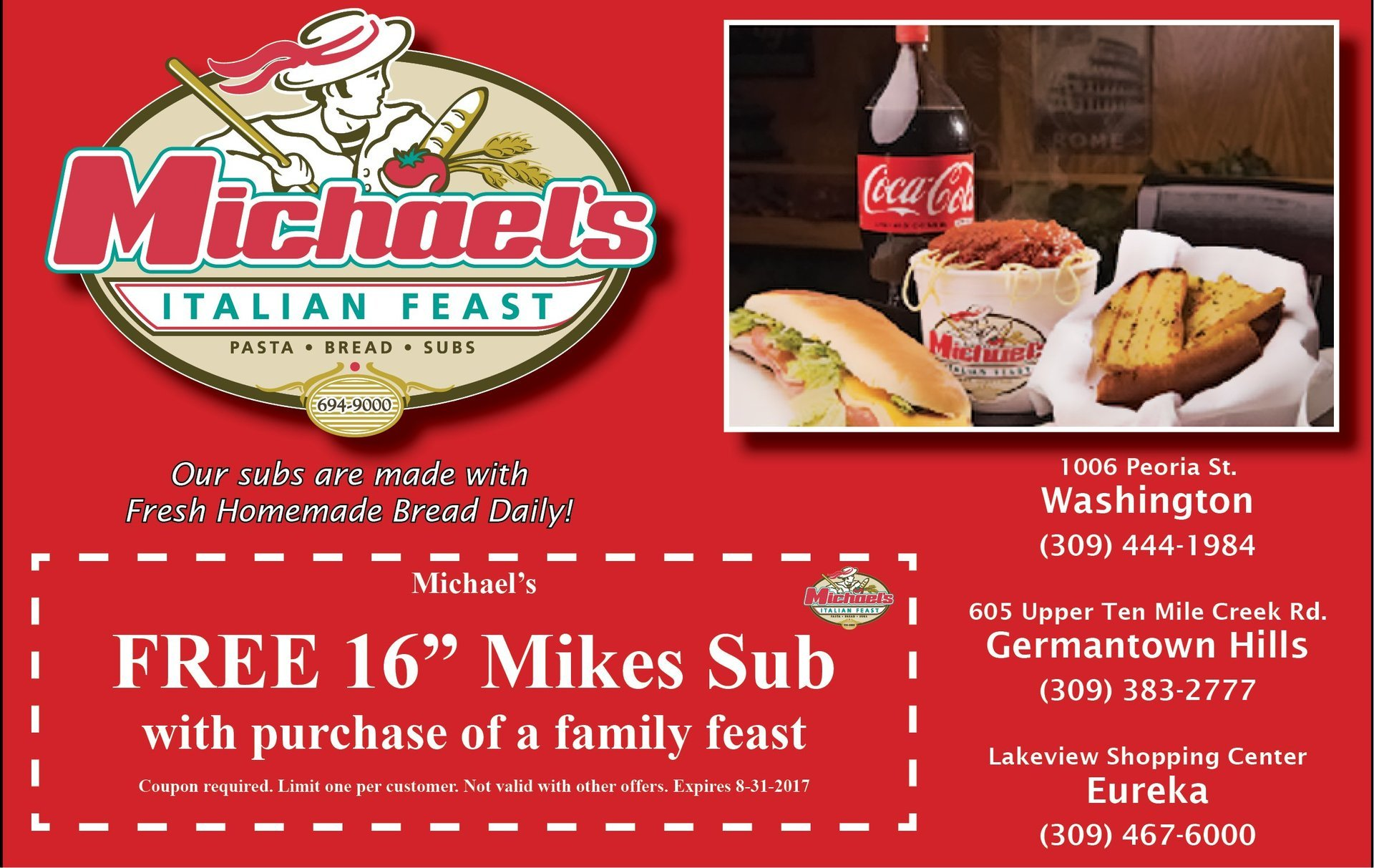 Michael's Italian Feast coupons
