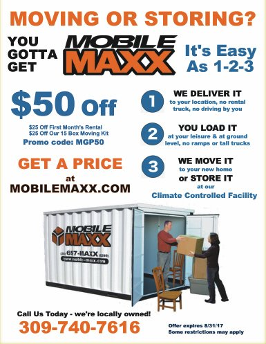 Mobile Maxx Moving and Storage coupon