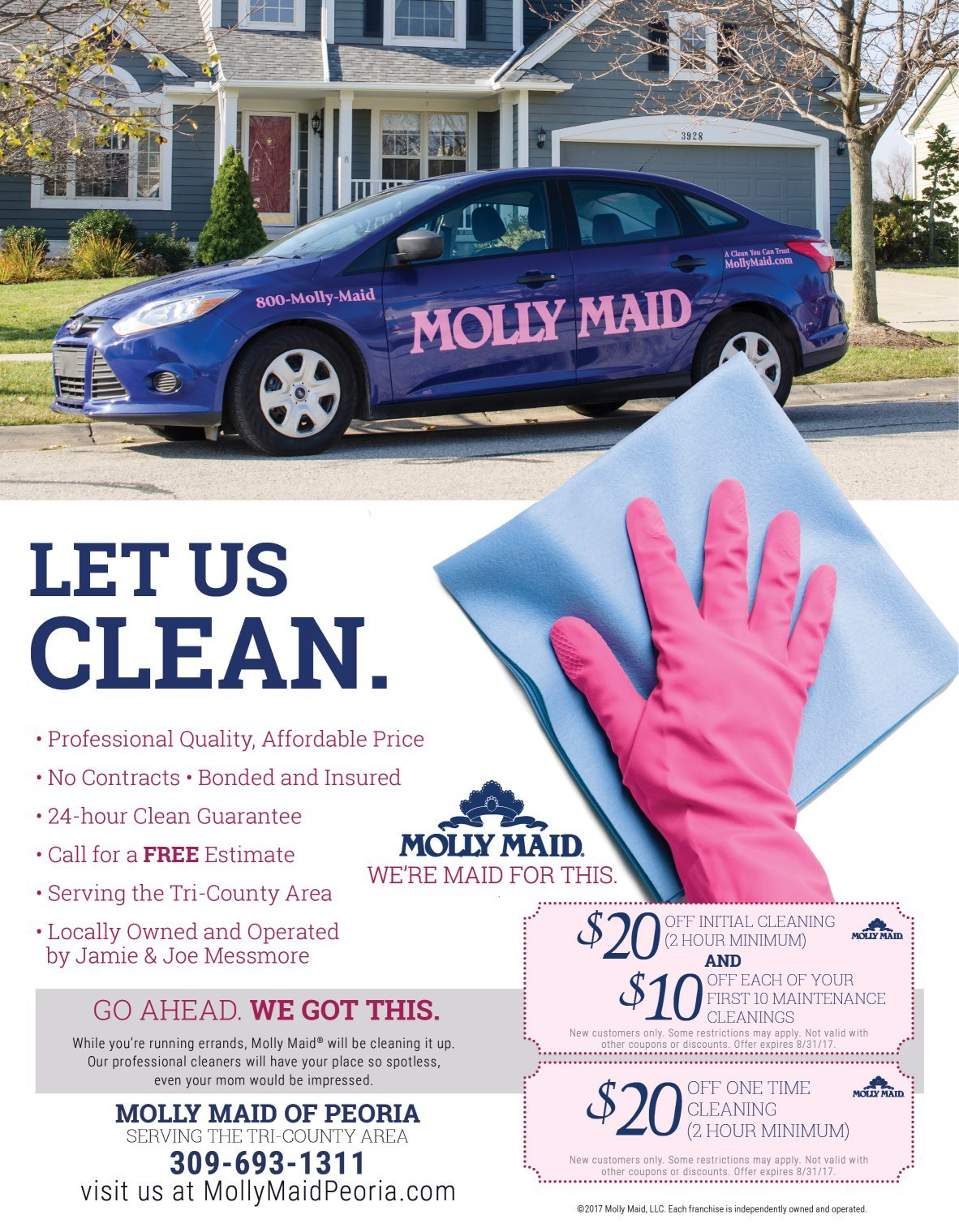 Molly Maid of Peoria coupons
