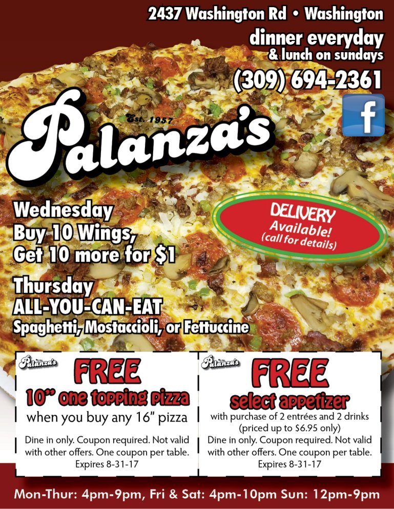 Palanza's Family Dining and Pizza coupons