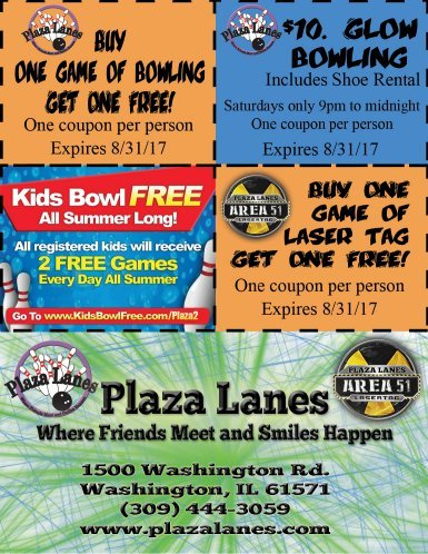 Plaza Lanes Bowling and Laser Tag coupons