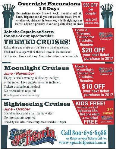 Spirit of Peoria Cruises coupons