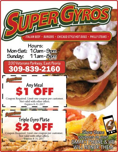 Super Gyros coupons