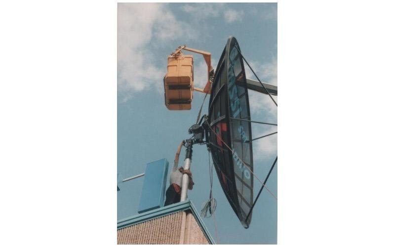 montaggio antenna satellitare