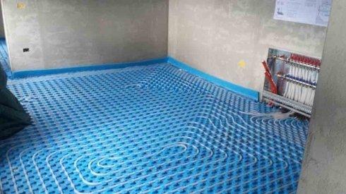 montaggio riscaldamento a pavimento