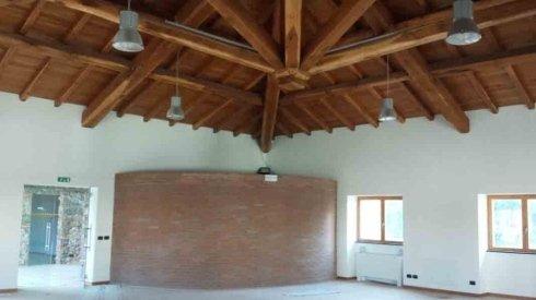 muri interni realizzati in pietra
