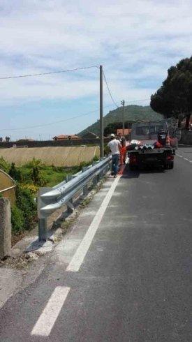 realizzazione strisce stradali