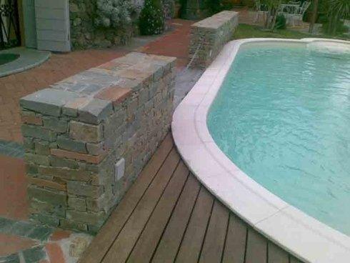 muro esterno piscina