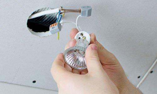 bulb installation