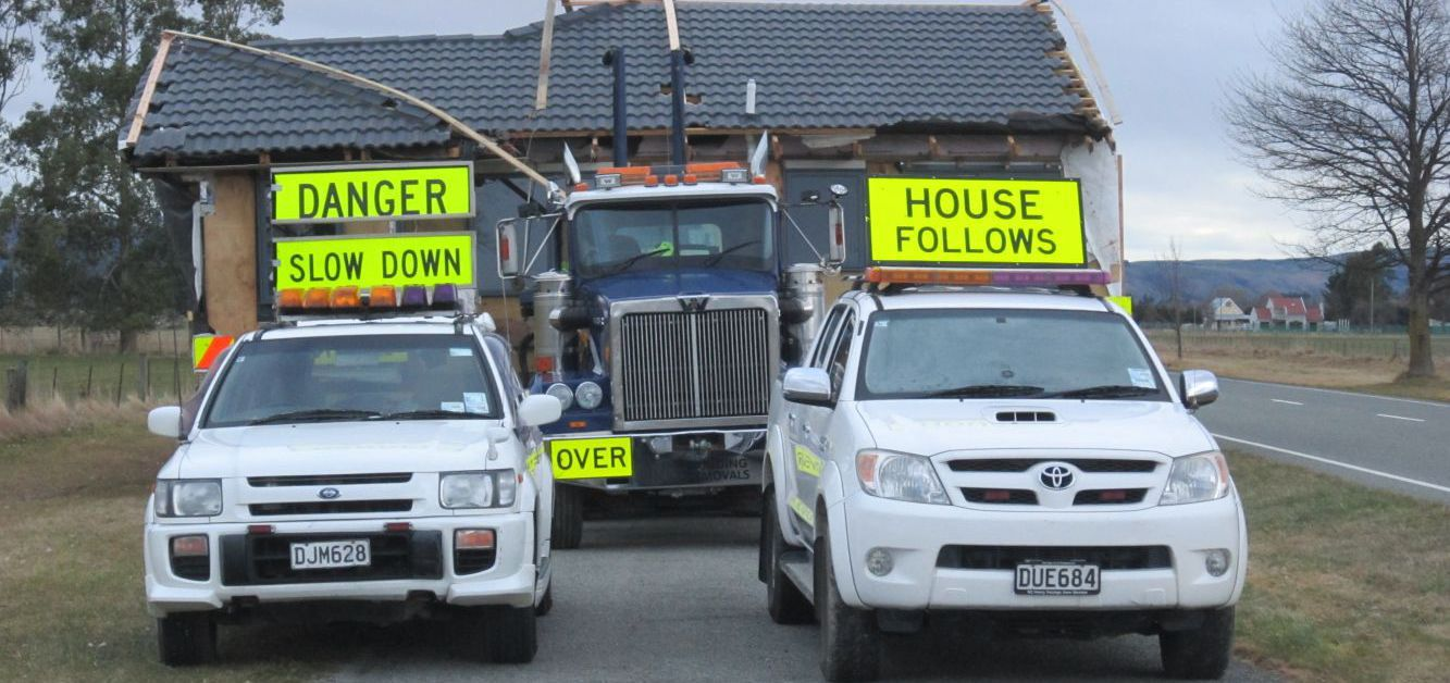 Building removals on the road through NZ's South Island