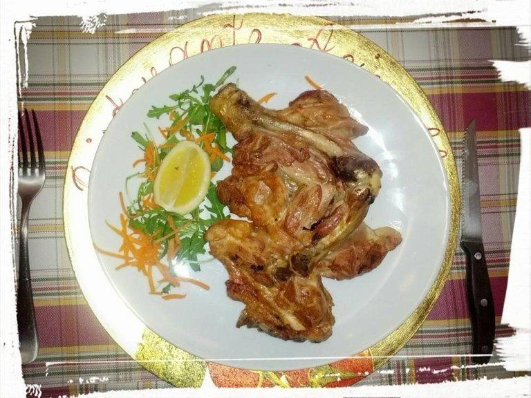 Cosciotto di pollo alla brace