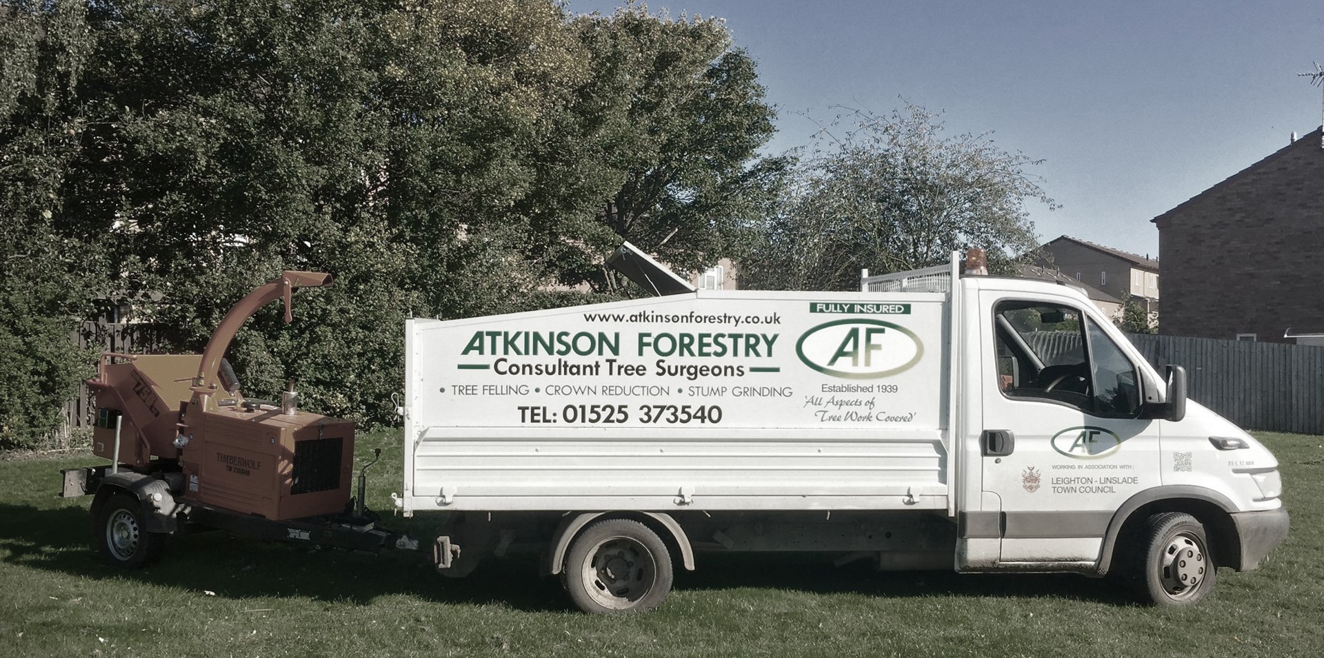 van for transporting trees