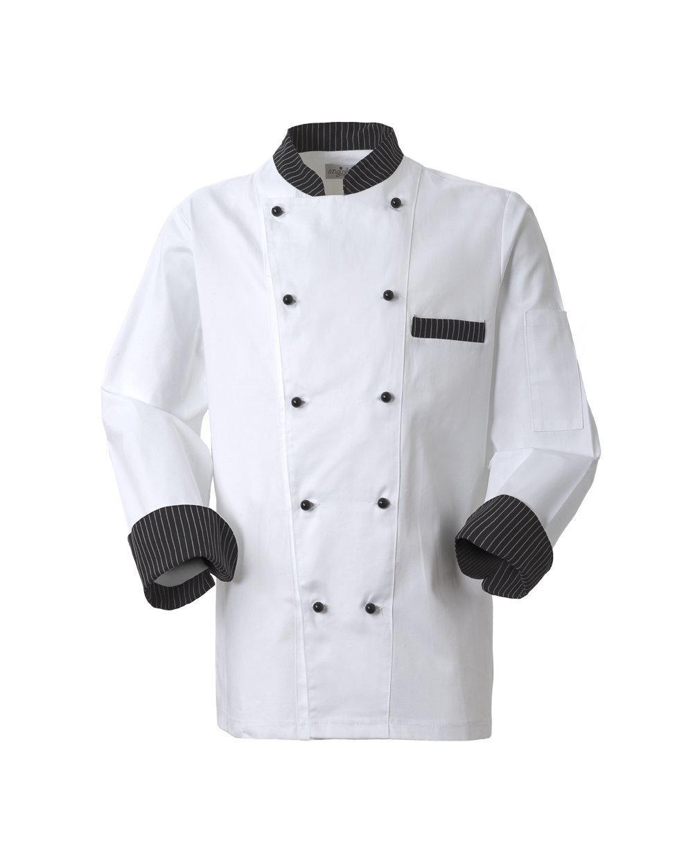 un'uniforme da chef di color bianco