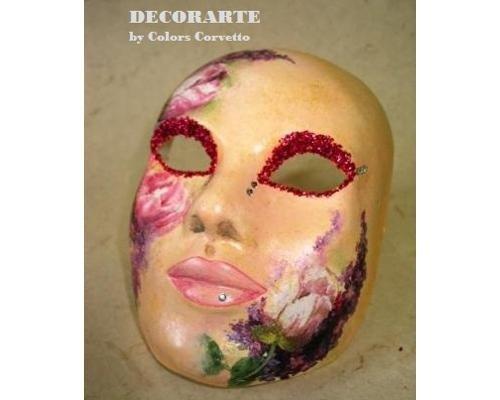 Maschera decoupage